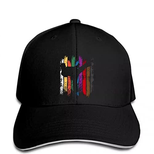 FOMBV Cappellini da Baseball Hip Hop Cappello da Uomo Divertente Cappello da Donna novità Karate Belt Colori Silhouette cap Regolabile Stampato Cappello Visiera Regalo