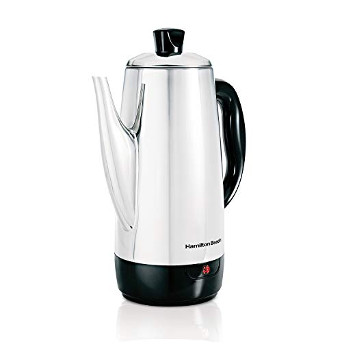 Hamilton Beach 40616 12-Cup Electric Percolator in Stainless Steel