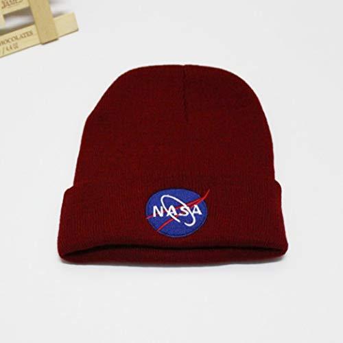 Pinenuts Superior NASA Stickerei Logo Bündchen Hip-Hop Unisex Wintermütze Strickmütze