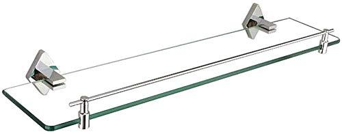 Badplank van glas voor badkamer van glas met spiegel van koper, eenwandig, voor badkamermeubels van glas (grootte: 50 cm) 60 cm.