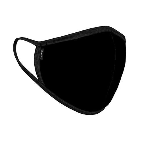Mascarilla YOURBAN color negro. TALLA L, unisex, lavable y reutilizable . Con certificación UNE0065:2020 - FILTRACIÓN (BFE): 98.9% y RESPIRABILIDAD: 26.5 Pa/cm2.