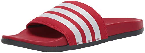 adidas Herren Adilette Comfort Slide, Rot (Scarlet/White/Grey), 39.5 EU