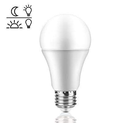 Powstro LED Light Sensor Bulb 7W Smart Automatic Dusk to Dawn LED Lamp E27 Screw Base for Garden Garage Porch Patio Yard Hallway Lighting