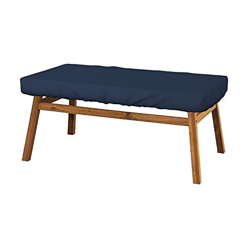 Rectangle Table Top Cover 12 Oz - Customize Your Cover with Any Size - 100% Weather Resistant Outdoor Table Cover with Air Pocket and Elastic for Snug Fit (5' H x 60' W x 35' D, Blue)