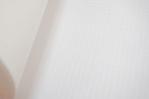 B1 Spinnaker Ripstop Deko Stoff Meterware, schwer entflammbar nach Europäischer Norm EN 13501-1, Wasser- und luftdicht, sehr leicht ca. 70 g/m², Textil Gewebe Weiss