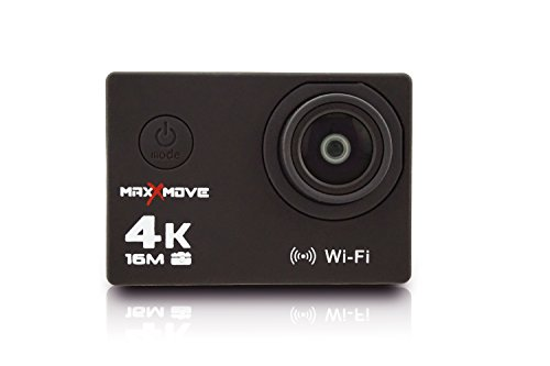 MaxXmove MXM-AC-RIZEH4-B Rize H4 4k 30fps Wi-Fi Sports Action Camera with 2