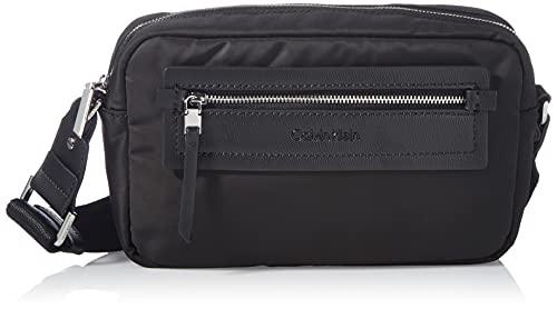 Calvin Klein CK Essential Camera Bag, Crossovers para Mujer, Black, Medium