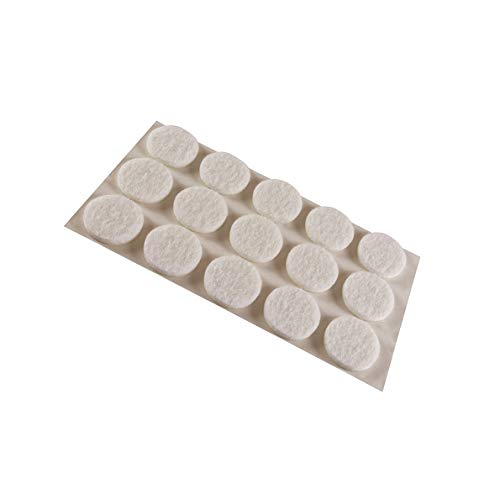MOBILA Feltrini adesivi tondi Ø 16 mm. - bianco - 15 pz.