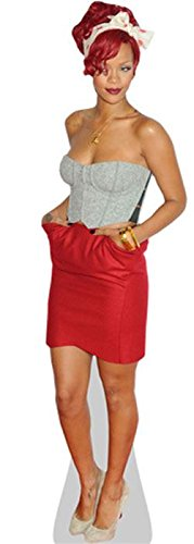 Celebrity Cutouts Rihanna (Red Dress) Pappaufsteller Mini