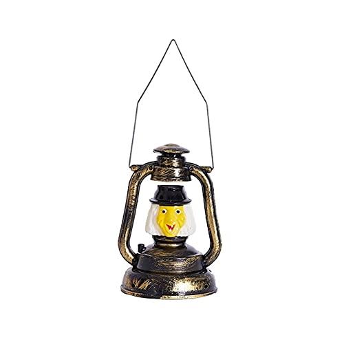BIAOYU Lámpara de aceite de cámara – Lámpara de queroseno portátil para colgar decoración de casa encantada Halloween