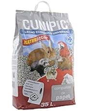 CUNIPIC NATPA35 Naturlitter Papel - 35 l, Negro