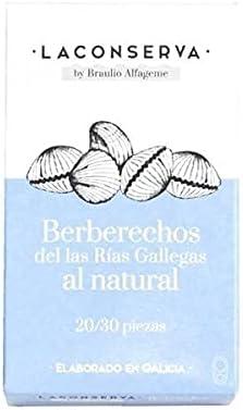 Berberechos al natural de las Rias Gallegas 40/50 piezas