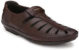 BANISH Men's Leather Ethnic Roman Sandals