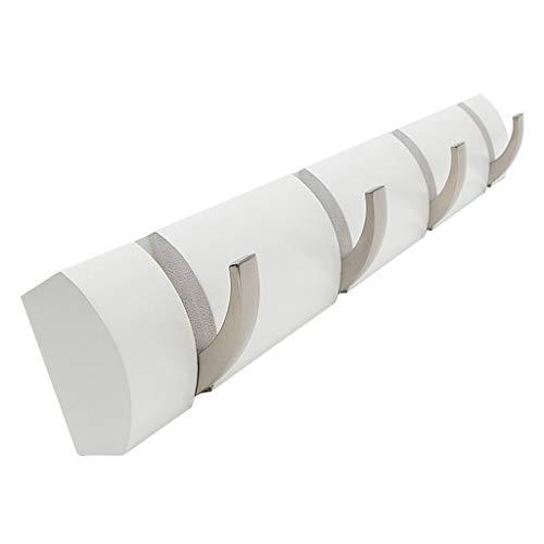 Unbekannt Mur – Cintres montés en Bambou pour Chambre à Coucher, Crochets pour vêtements, Nombreux Styles et Couleurs au Choix, White, 48.5 * 6 * 1.8 cm