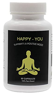 Happy You | 100% Plant-Based Supplement for Anxiety & Depression Relief | Boosts Mood, Relieve Stress