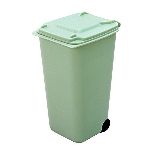PriMI plástico Creativo desktoptrash Mini Pluma contenedor para Basura (Verde)