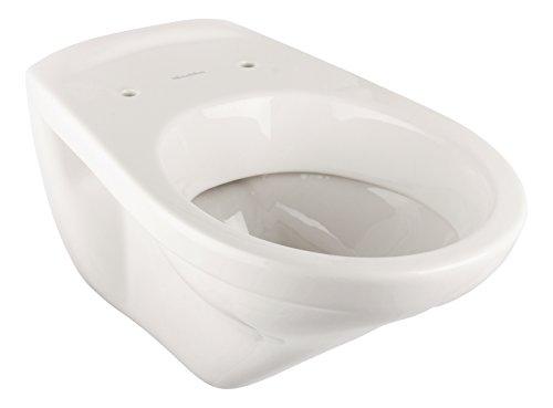 Villeroy & Boch Wand-WC Omnia Classic, 768210R1 Tiefspüler mit CeramicPlus-Beschichtung, mit waagerechtem Abgang, Keramik, Weiß, 03509 5