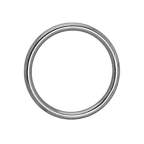Edelstahl Rundring O-Ringe O-Ring Edelstahlringe Edelstahlring Edelstahl V4A Rostfrei Geschweißt Poliert Öse, Größe:6mm x 60mm - 1 Stück