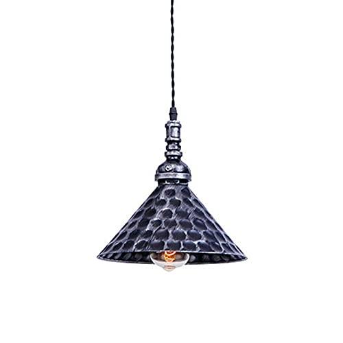 WQERLC Lámpara de Araña, Luz de Techo, Luz de Techo Vintage Industrial Sombra de Luz, E27 Base Iron Light Lightsphede, Colgante Colgante Luminaria,1 Luz