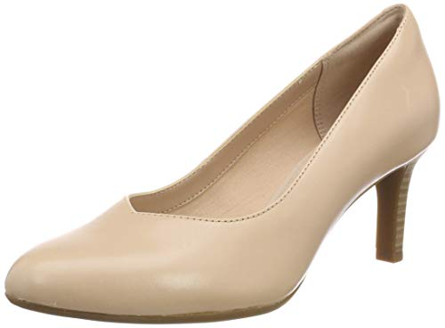 Clarks Damen Dancer Nolin Pumps, Beige (Blush Leather), 37 EU