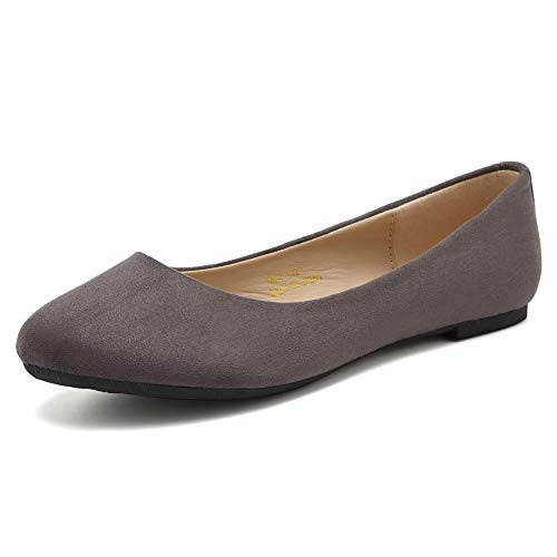 CIOR Women BalletFlats Classy Simple Casual Slip-on Comfort Walking Shoes Size: 4.5