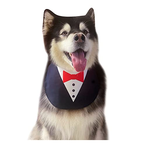 Disfraz De Vestido De Novia De Perro Mascota Babero Pañuelo para Perros Mascota Pañuelo Novio De Accesorios De Verano Babero Impermeable De Mascotas para Medianas y Grandes Perros Golden