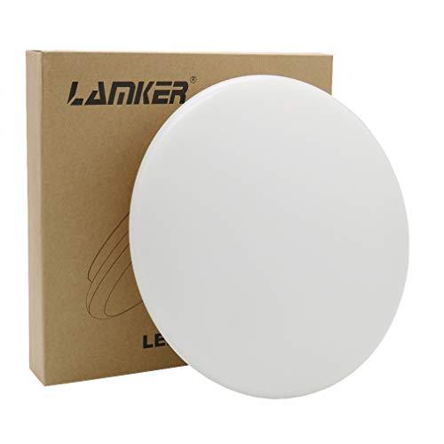 Lamker Plafones 18W Plafón baño LED Iluminación de Techo