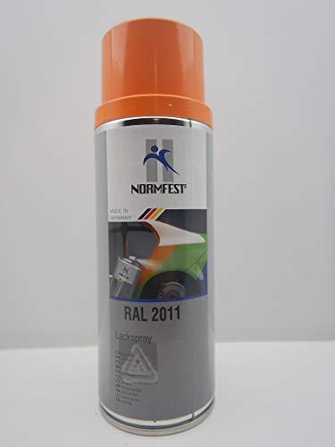 Normfest Pintura en aerosol naranja RAL 2011, bote de 400 ml