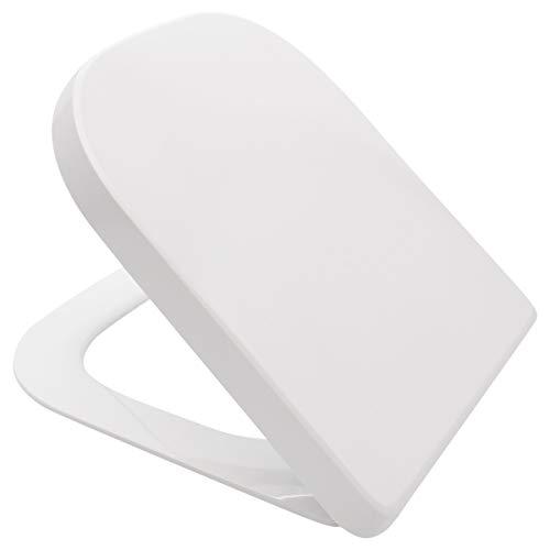 LUVETT® PREMIUM WC-SITZ Q100 eckig mit Absenkautomatik SoftClose® & TakeOff® EasyClean Abnahme, Duroplast, Concept Style 200, Concept 200, Farbe:Weiß