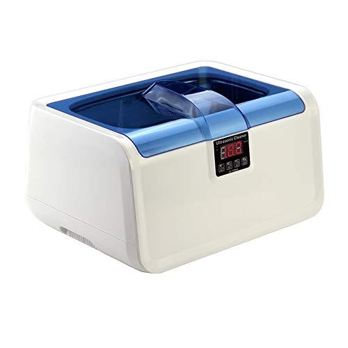 RHRQXJ Professionelle Ultraschall-Reinigungsmaschine 2.5L, 120W (einstellbare Leistung) Timing, Beheizbar, Für Brillen, Uhren, Zahnersatz, Rasierer (Color : Weiss)