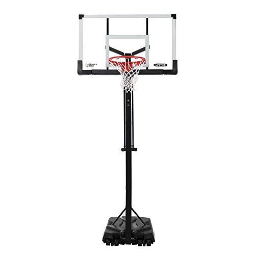 Lifetime 90734 Adjustable Portable Basketball Hoop, 54-Inch Tempered Glass Backboard, Black