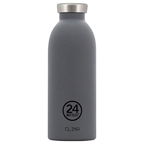 24Bottles Clima, Trinkflasche aus Edelstahl, grau, 500 ml