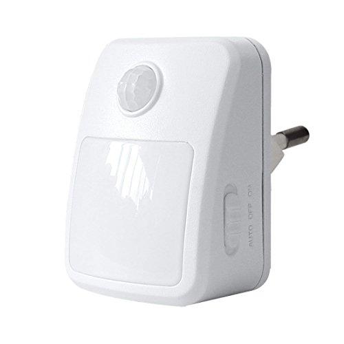 GAO LED Orientierungslicht mit Bewegungsmelder, Plastik, Weiß, 7.1 x 7 x 9 cm