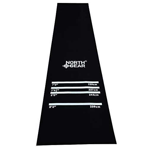 North Gear Heavy Duty Darts Mat with Throw Lines - Suitable for...