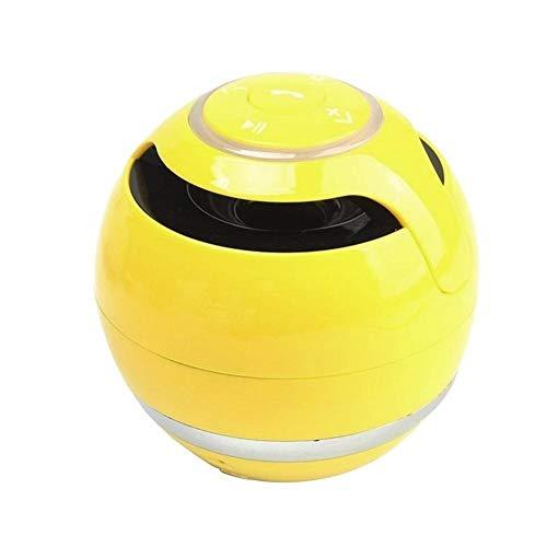 XFSE Bluetooth drahtlose tragbare Lautsprecher gelb Lüfter freihändiges TF FM-Radio, MP3-Musik-Box mit einem Mikrofon for Telefon und PC