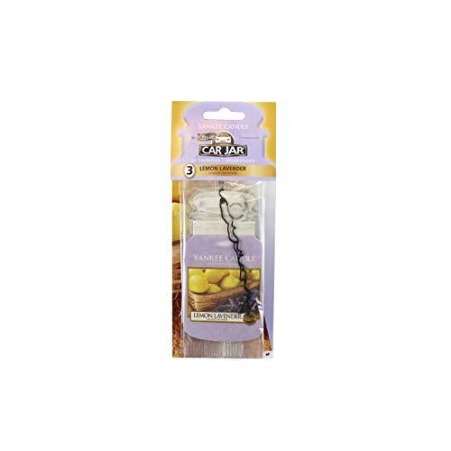 Yankee Candle 1137673E Deodoranti per Auto, Car Vaso Bonus Pacchetto di 3, Lemon Lavender