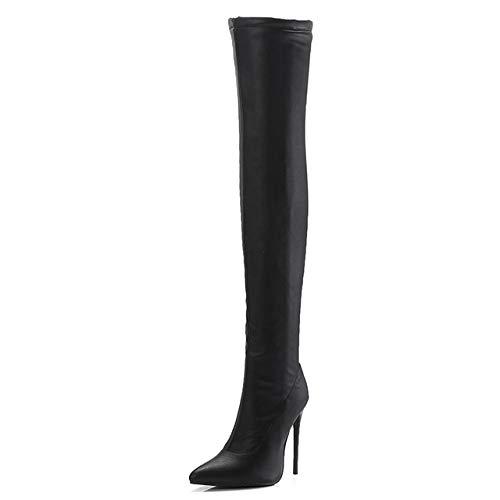 SHZSMHD Damesschoenen Lange laarzen Large ColorSizes 34-48 herfst Winter Overknee laarzen High Heels Party Stiletto laarzen dames