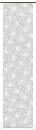 GARDINIA Flächenvorhang (1 Stück), Schiebegardine, Blickdicht, Stoff Waschbar, Bloomy, Weiß, 60 x 245 cm (BxH)