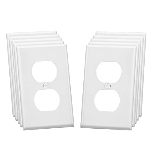 Outlet Cover Wall Plate Kit, Electrical Duplex Wall Socket Cover, Standard Size 1-Gang 4.50