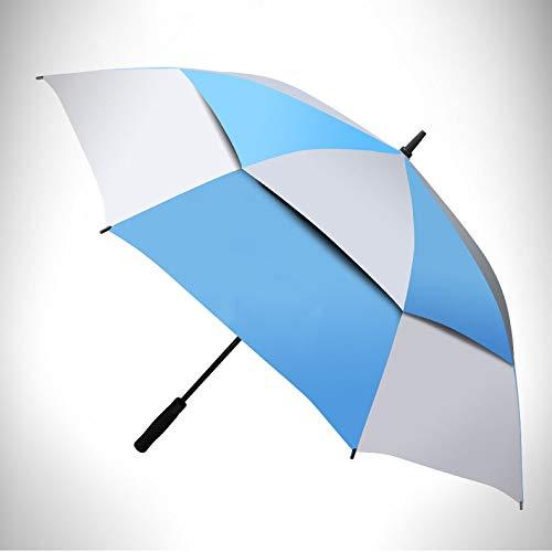 Baiyi golfparaplu paraplu kwaliteit rechte glasvezel staaf bliksembeveiliging automatische rechte golfparaplu golfscherm dubbel scherm
