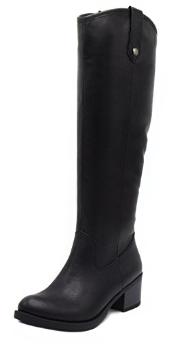 LONDON FOG Womens Irie Riding Boot, Regular and Wide Calf Colors Available Black 7