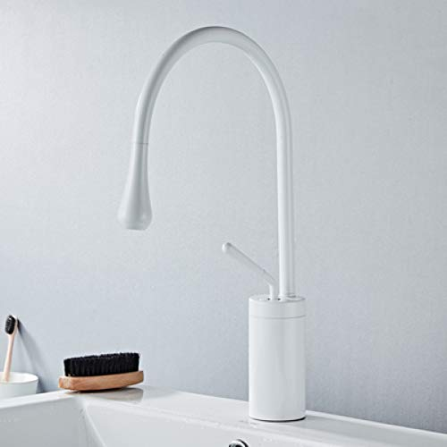 JTSLT kraan voor badkamer, enkele greep, warm en koud water, persoonlijkheid, soort wastafel met water