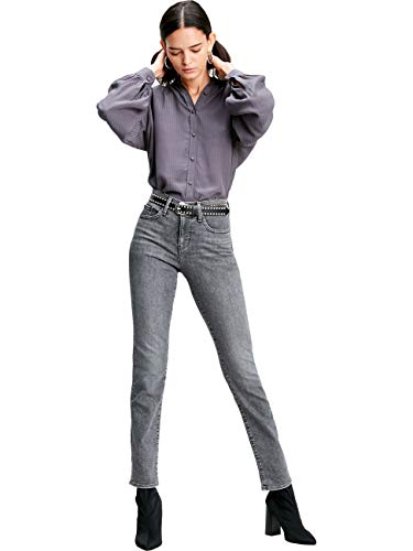 Levis® Damen Jeans Jeanshose 312 Shaping Slim Fit - Grau - Grey Denim W26-W34 Stretchjeans figurformend, Größe:W 30 L 32, Farbvariante:Grey Denim (0125)