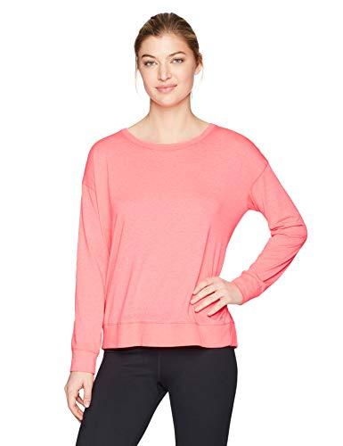 Calvin Klein Damen-T-Shirt mit Langen Ärmeln und Schulterriemen - Pink - Klein