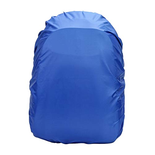 Milageto Rain Cover for Backpack, 35L Waterproof Cover for Hiking Camping Packs - Blue