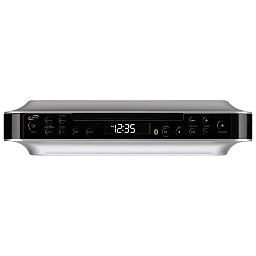 iLive Bluetooth Under Cabinet Radio (FM) CD Player and MP3 player , Bluetooth, USB, AUX in, MP3, CD, Wireless Music System with Kitchen Timer, Digital Clock, with Remote Control IKBC384SMP3U