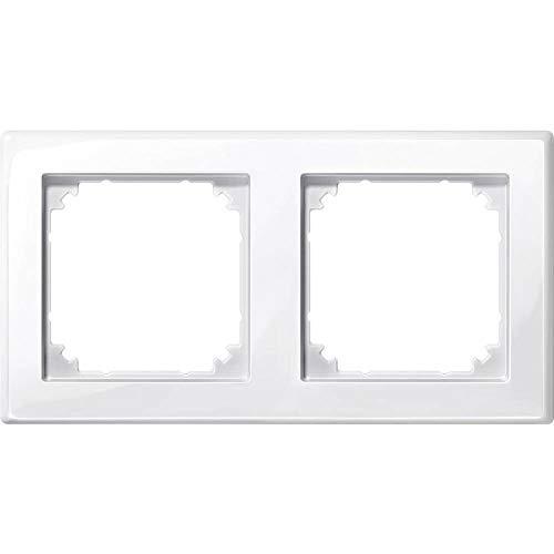 Preisvergleich Produktbild Merten 2fach Rahmen M-Smart Polarweiß glänzend 478219