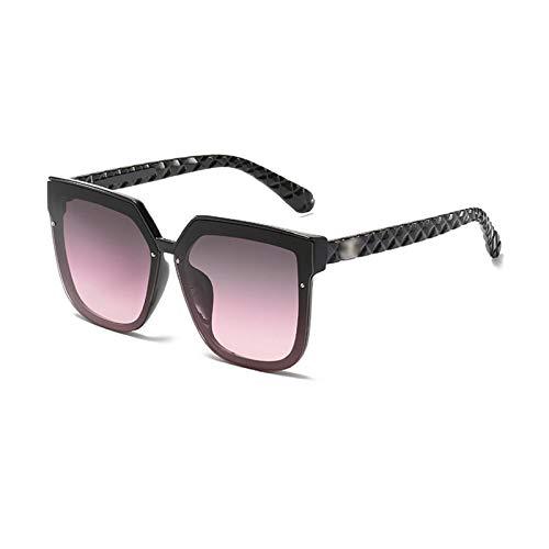 N\P Gafas de sol de malla con montura grande para hombres y mujeres, gafas de sol negras brillantes
