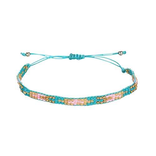 Orcbee_Personality Bohemian Handwoven Rope Multicolor Bracelet Ladies Jewelry Gift (E)