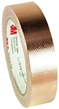 3M 1245 EMI Embossed Copper Shielding Foil Adhesive Tape, 4 mil Thick, 18 yds Length x 1